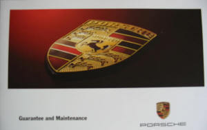 Guarantee & Maintenance Book Boxster & 996 1997