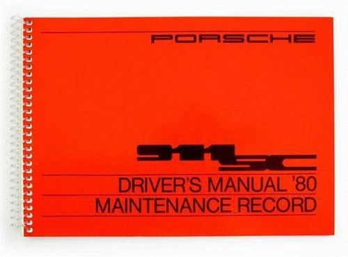 Owners / Drivers Manual 911 1980