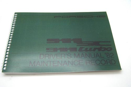 Owners / Drivers Manual 911 1982