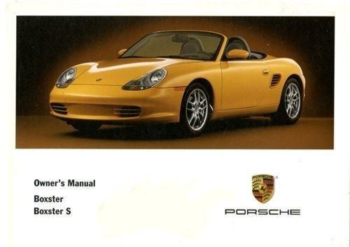 Owners / Drivers Manual Boxster 986 2.7 & 3.2