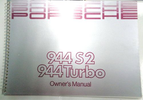 Owners / Drivers Manual 944S2/Turbo
