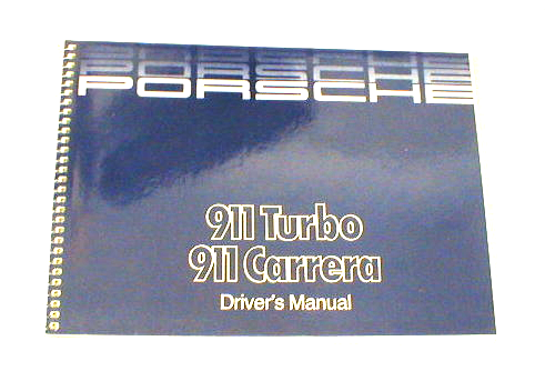 Owners / Drivers Manual 911 1987