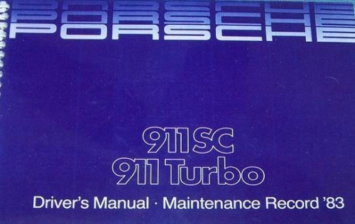 Owners / Drivers Manual 911 1983