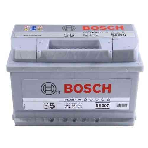 Bosch Silver S5 - 74 amp hour Battery S5007