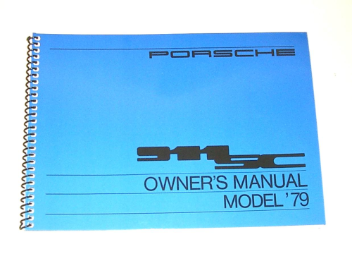 Owners / Drivers Manual 911 1979