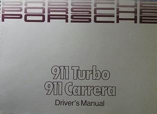 Owners / Drivers Manual 911 1989