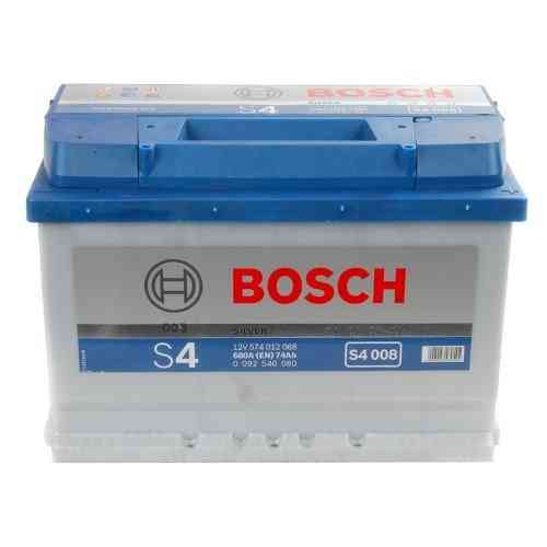 Bosch Silver S4 - 74 amp hour Battery S4008