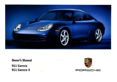 Owners / Drivers Manual 996 3.4