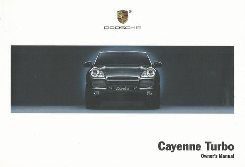 Owners / Drivers Manual Cayenne Turbo >>06