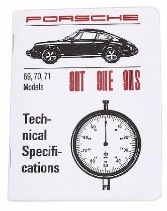 Factory Spec. Book 911 1969-71