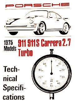 Factory Spec. Book 911 1975