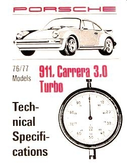 Factory Spec. Book 911 1976-77