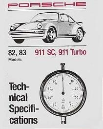 Factory Spec. Book 911 1982-83