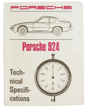 Factory Spec. Book 924 1977