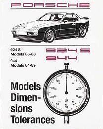 Factory Spec. Book 944 1984-89 & 924S