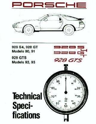 Factory Spec. Book 928 1990-93
