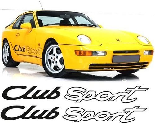 "968 ""Club Sport"" Side Decals"
