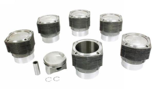 911 2.0 T Engine Pistons and Cylinders Set of 6
