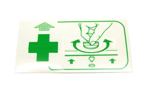 993 First Aid Sticker