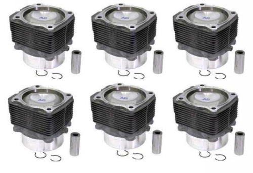911 3.0 to 3.2 Conversion Pistons & Cylinders Set of 6