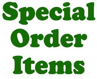 Special Order Items