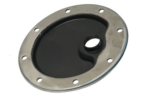 911 1965-83 Sump Cover Plate with Drain Hole Flat Stainless Steel