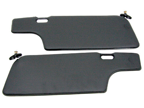911 1969-89 Sun Visor Set Coupe Black / Black RHD