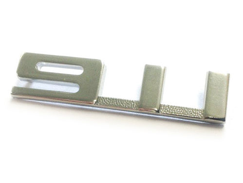 """911"" 1967-68 Glove Box Badge in Silver"